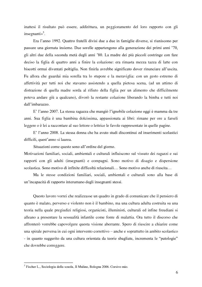 Anteprima della tesi: Identità umana, storia, letteratura. Il rapporto docente-studente., Pagina 3