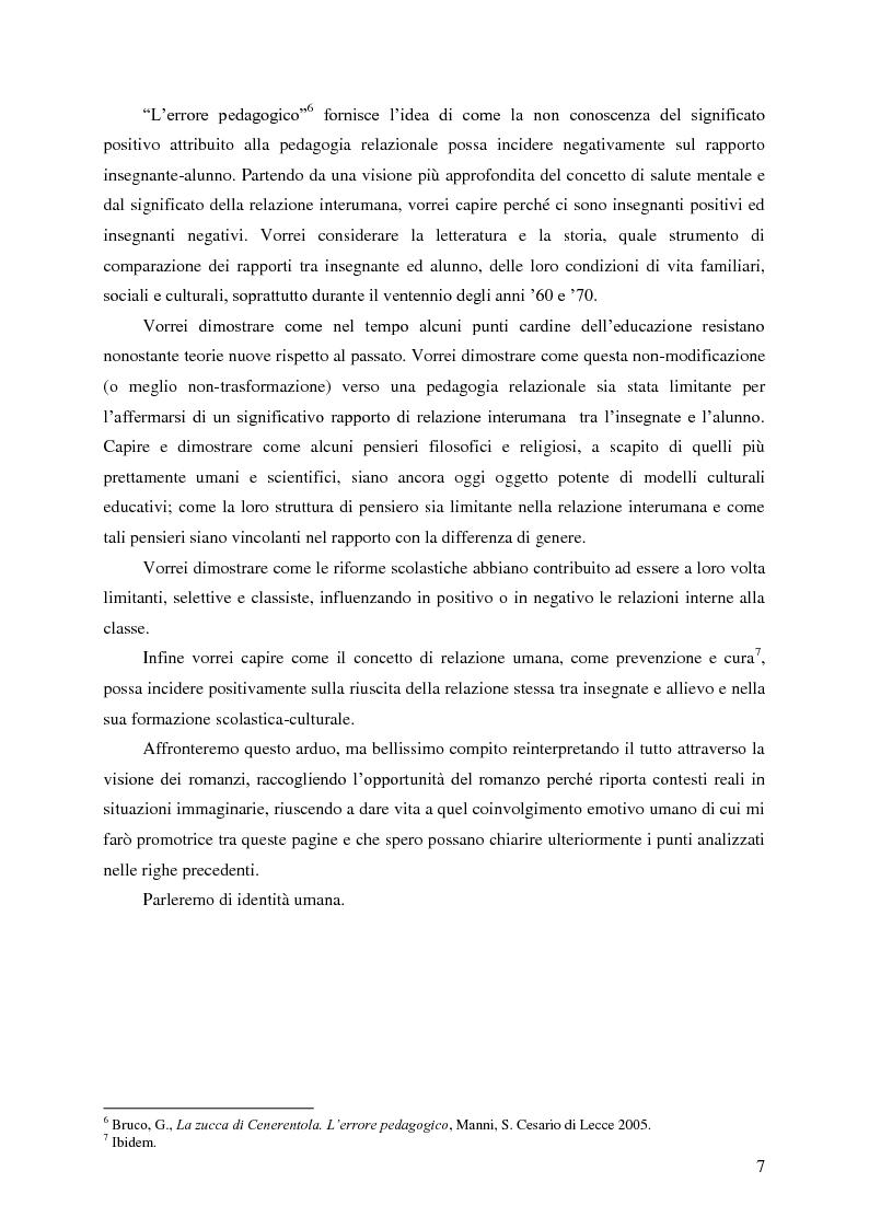 Anteprima della tesi: Identità umana, storia, letteratura. Il rapporto docente-studente., Pagina 4