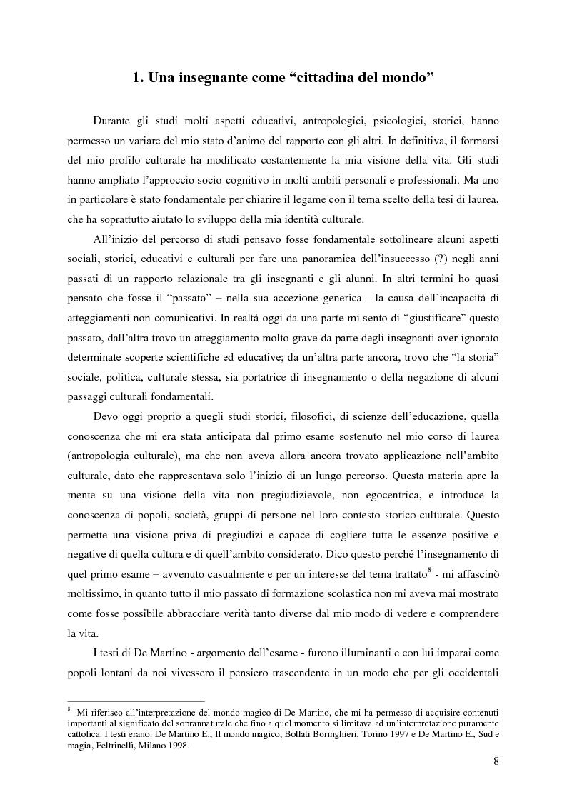 Anteprima della tesi: Identità umana, storia, letteratura. Il rapporto docente-studente., Pagina 5