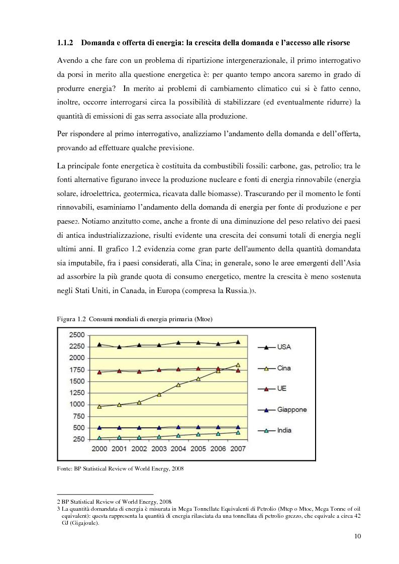 Anteprima della tesi: L'Italia torna al nucleare: elementi critici per la valutazione, Pagina 4