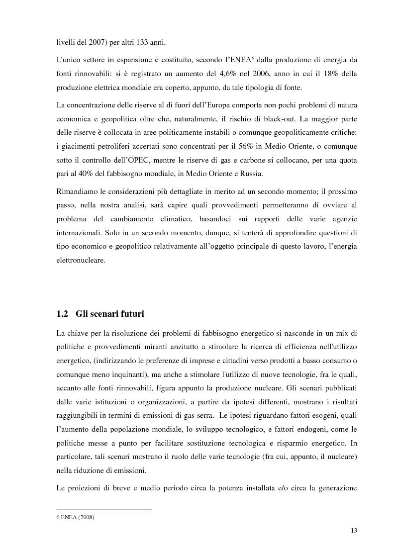 Anteprima della tesi: L'Italia torna al nucleare: elementi critici per la valutazione, Pagina 7