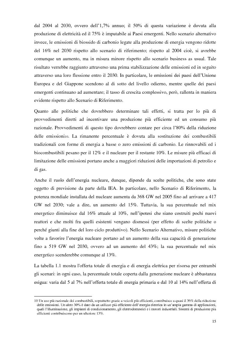 Anteprima della tesi: L'Italia torna al nucleare: elementi critici per la valutazione, Pagina 9