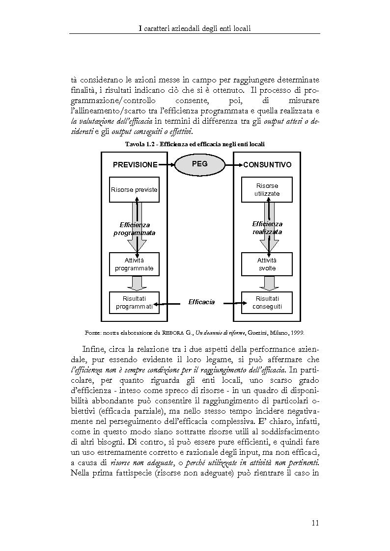 Anteprima della tesi: Il Bilancio sociale negli enti locali. Esperienze a confronto., Pagina 11