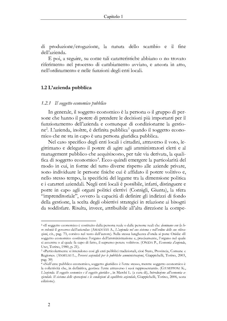 Anteprima della tesi: Il Bilancio sociale negli enti locali. Esperienze a confronto., Pagina 2