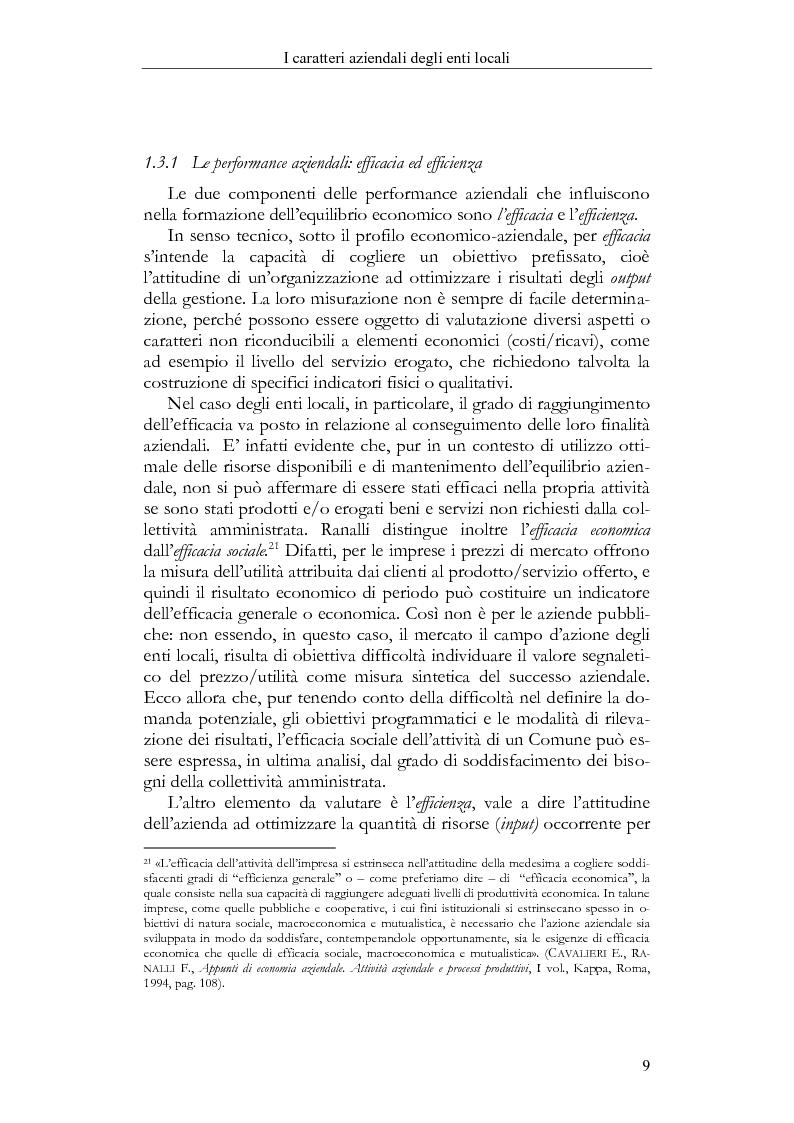 Anteprima della tesi: Il Bilancio sociale negli enti locali. Esperienze a confronto., Pagina 9