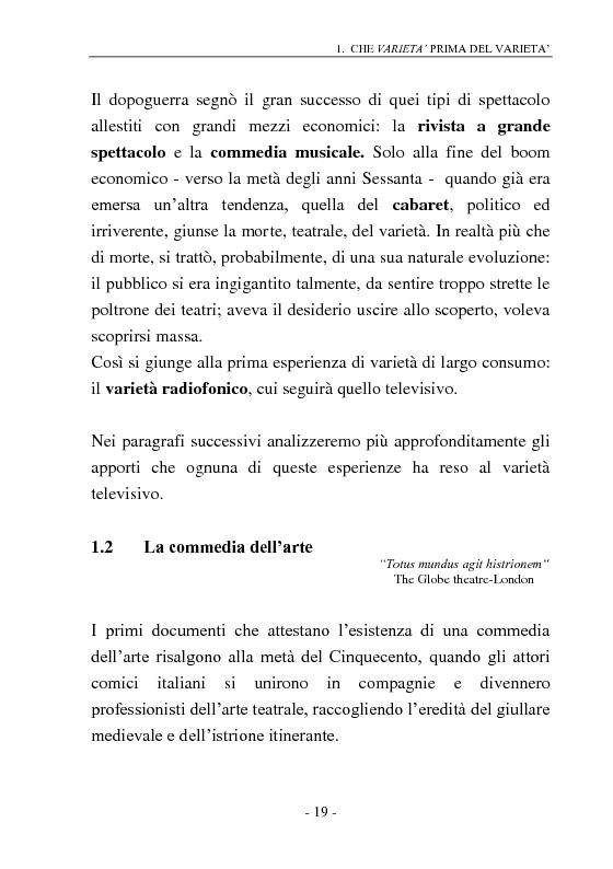Anteprima della tesi: Signore e Signori, ecco a voi il varietà. L'evoluzione di un genere: dai primi varietà al one man show., Pagina 11