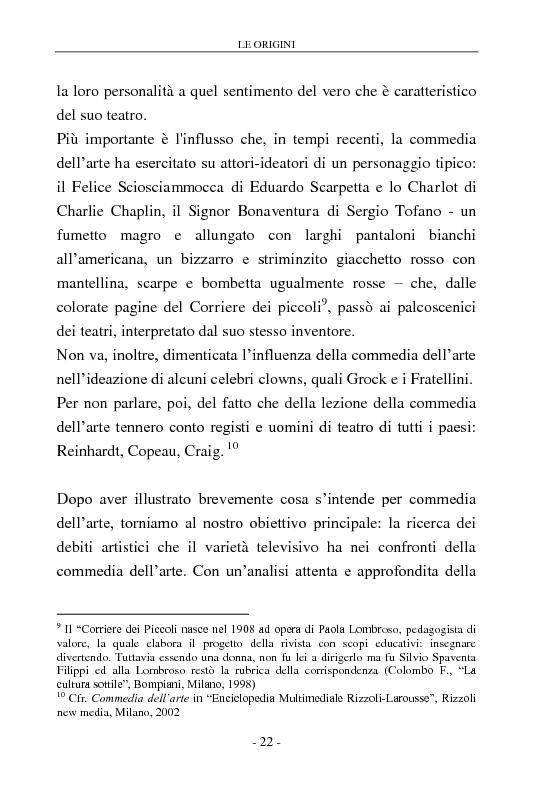 Anteprima della tesi: Signore e Signori, ecco a voi il varietà. L'evoluzione di un genere: dai primi varietà al one man show., Pagina 14