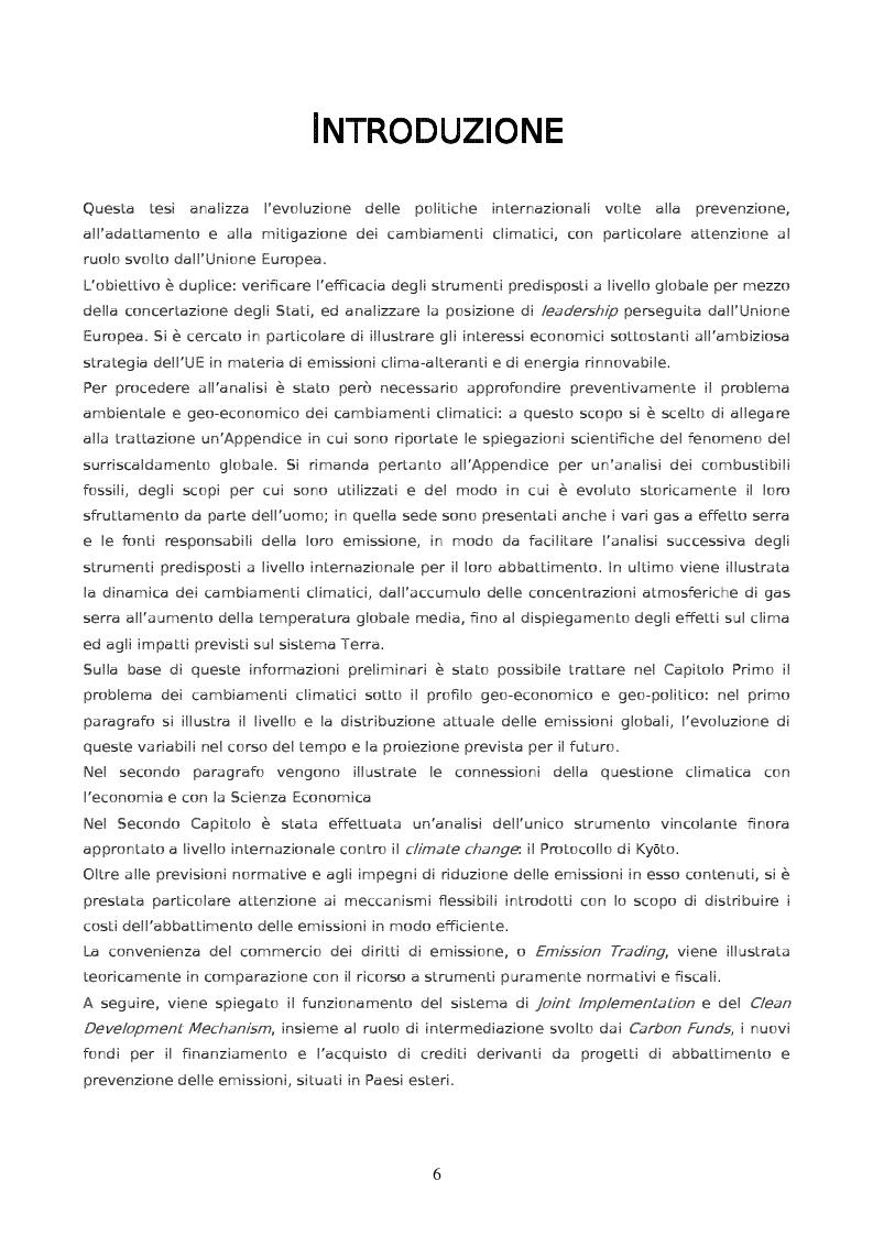 Anteprima della tesi: Da Kyoto a Copenhagen: il ruolo dell'Unione Europea, Pagina 1