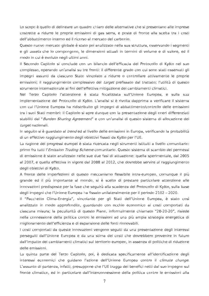 Anteprima della tesi: Da Kyoto a Copenhagen: il ruolo dell'Unione Europea, Pagina 2