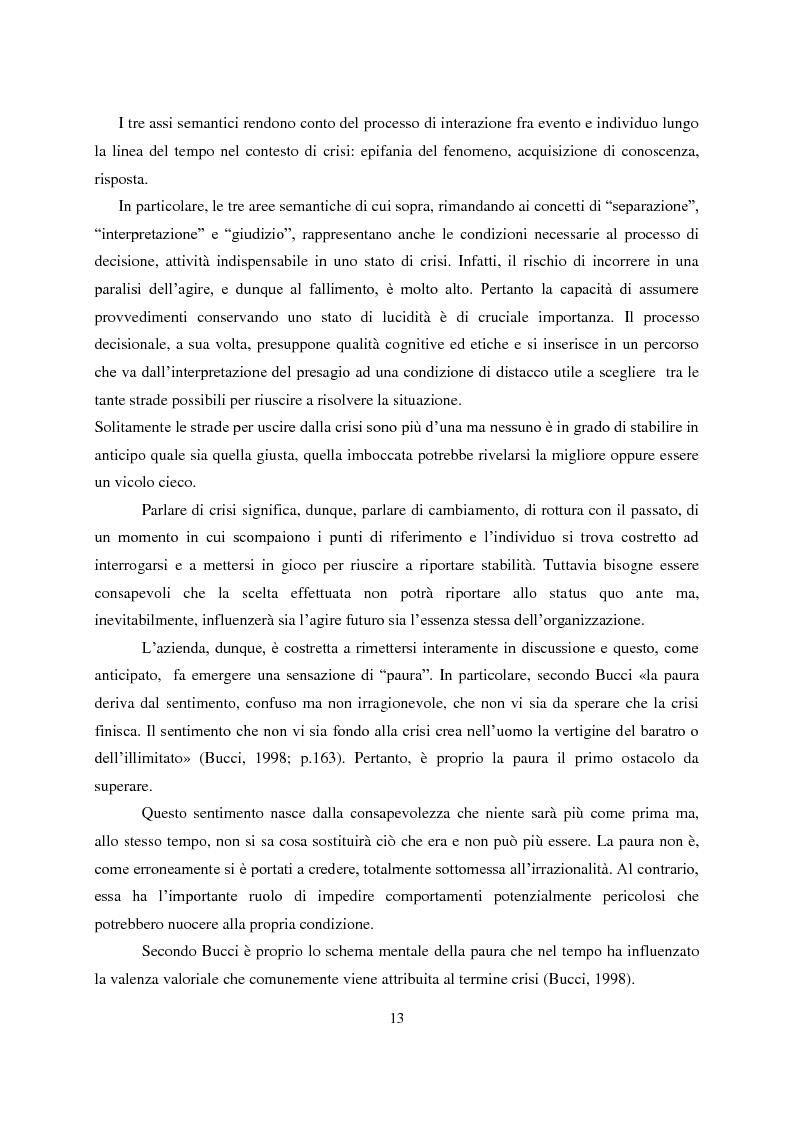 Anteprima della tesi: Crisis Management: la crisi finanziaria e la comunicazione delle banche, Pagina 2