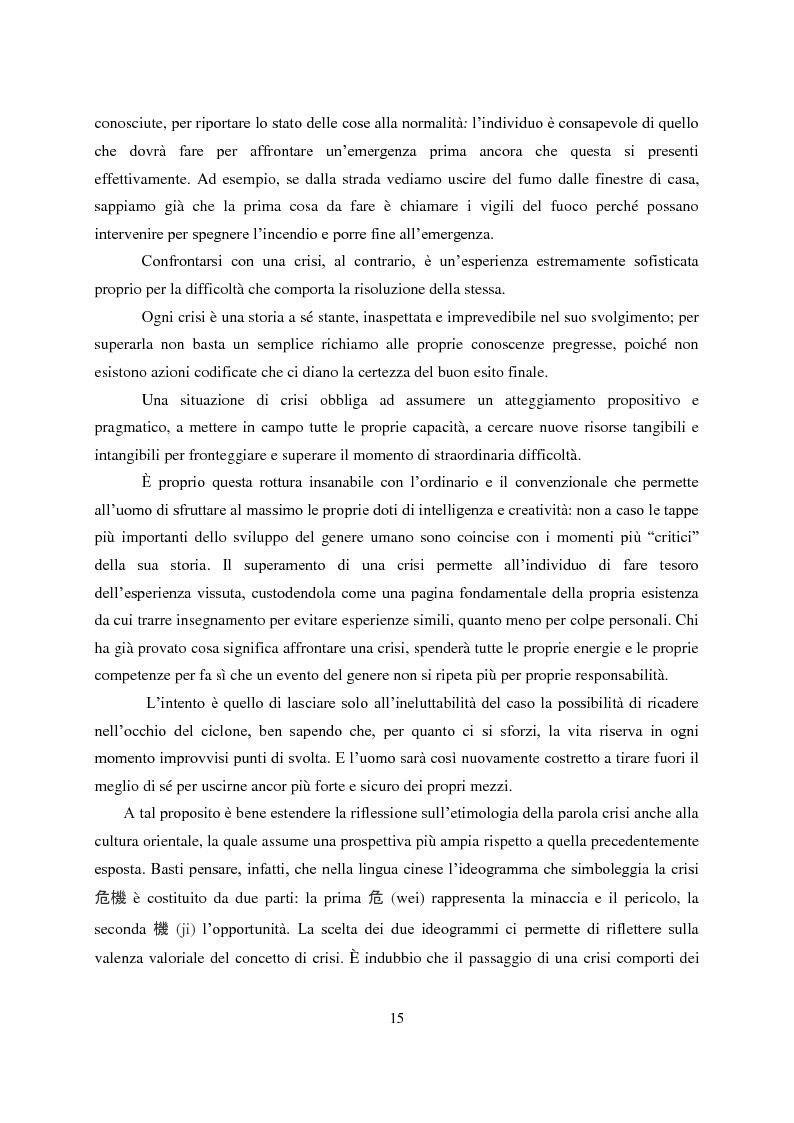 Anteprima della tesi: Crisis Management: la crisi finanziaria e la comunicazione delle banche, Pagina 4