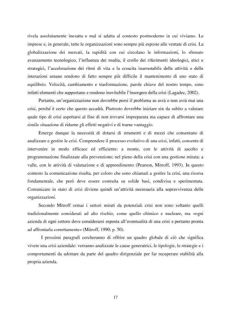 Anteprima della tesi: Crisis Management: la crisi finanziaria e la comunicazione delle banche, Pagina 6