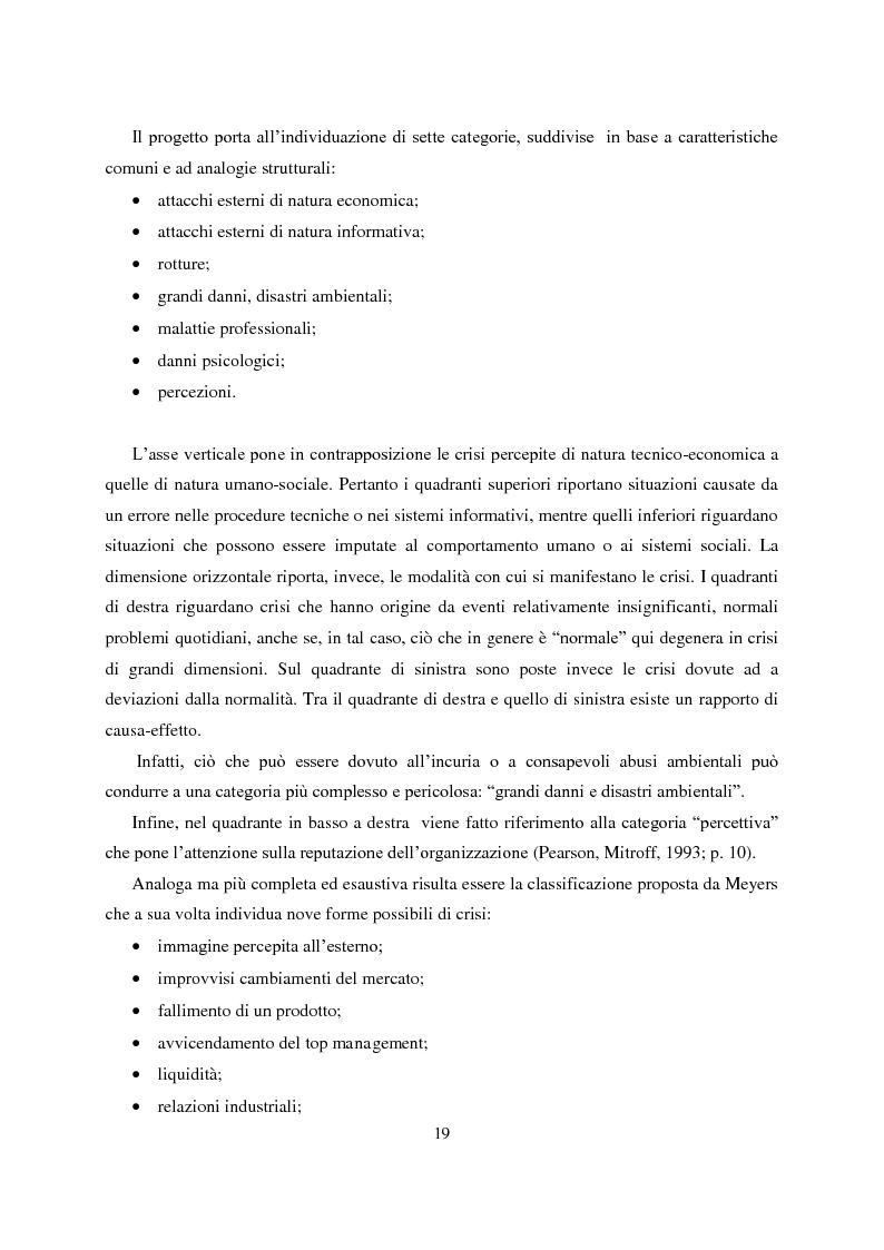Anteprima della tesi: Crisis Management: la crisi finanziaria e la comunicazione delle banche, Pagina 8