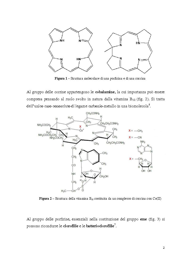 Anteprima della tesi: Reattività di beta-alchil e meso-triaril corroli, Pagina 2