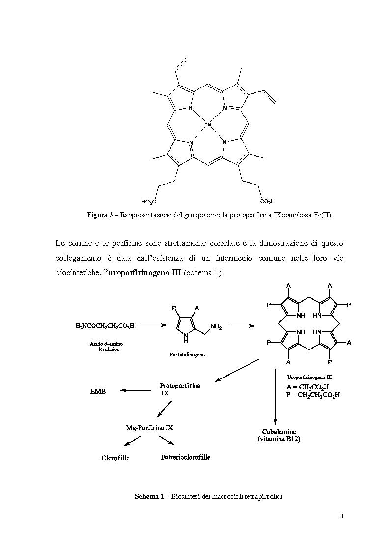 Anteprima della tesi: Reattività di beta-alchil e meso-triaril corroli, Pagina 3