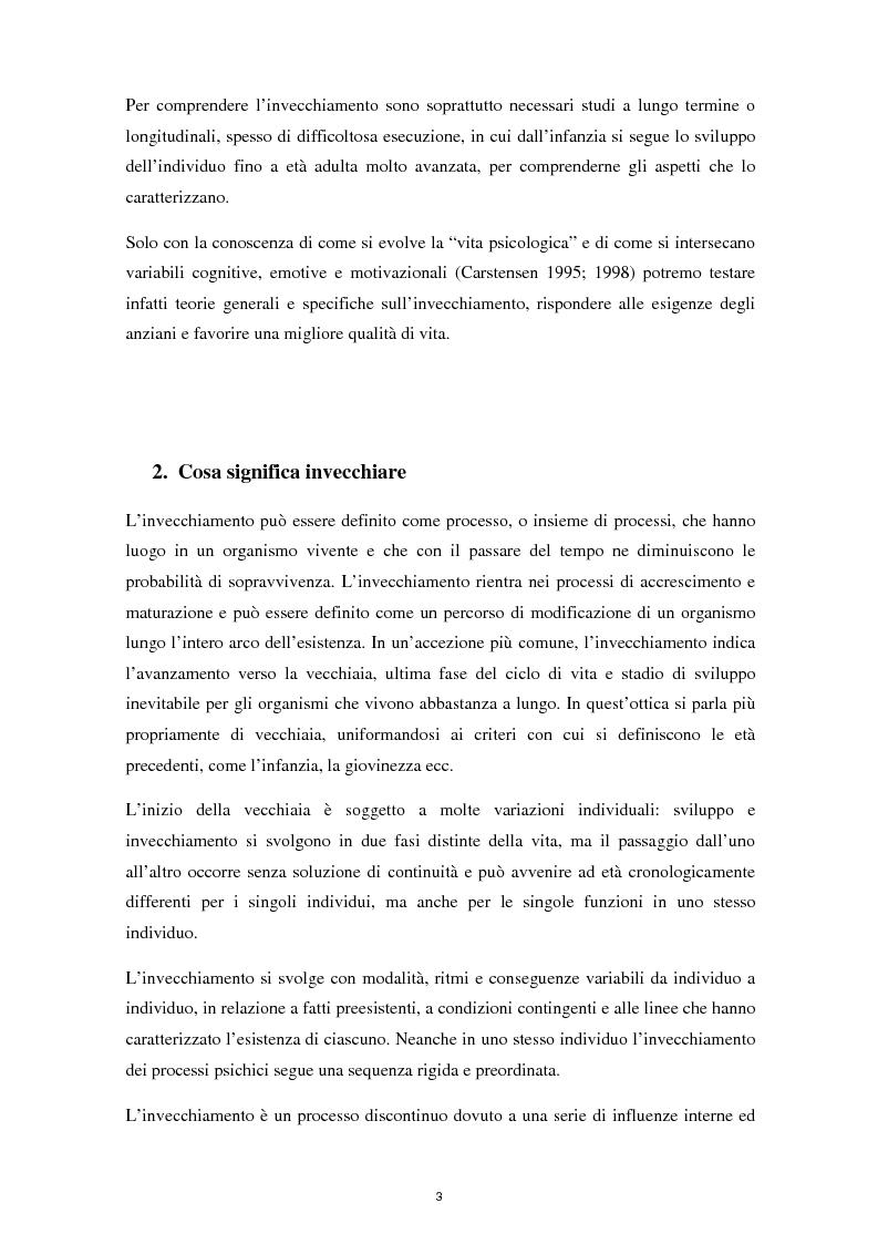 Anteprima della tesi: L'invecchiamento e il ruolo delle emozioni inconsapevoli in un compito di memoria di lavoro, Pagina 4