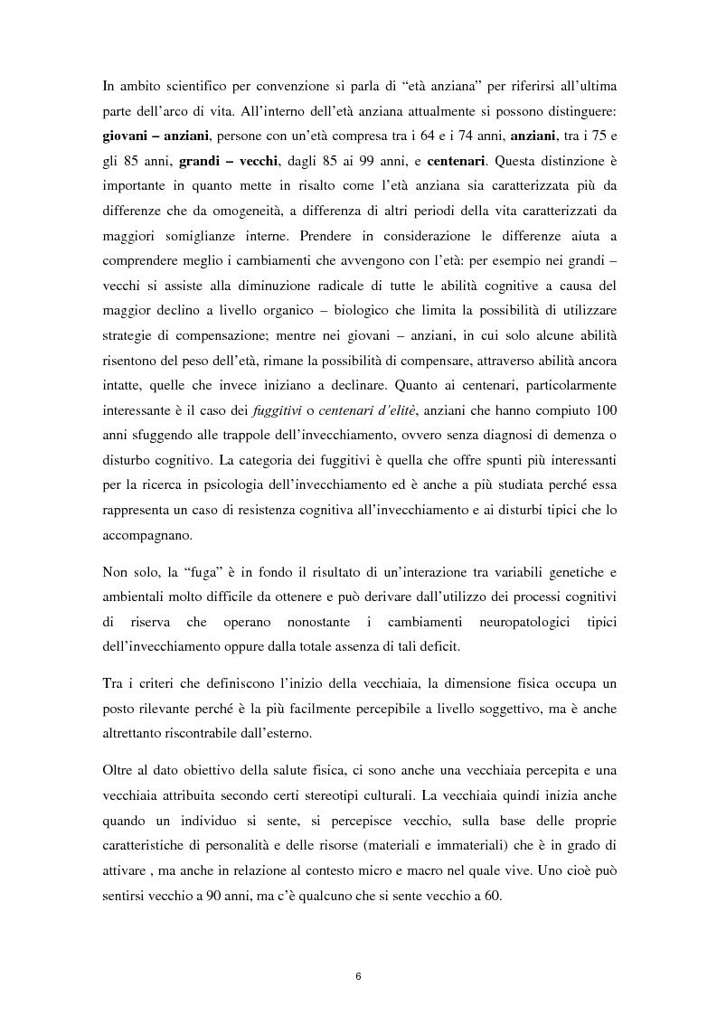 Anteprima della tesi: L'invecchiamento e il ruolo delle emozioni inconsapevoli in un compito di memoria di lavoro, Pagina 7