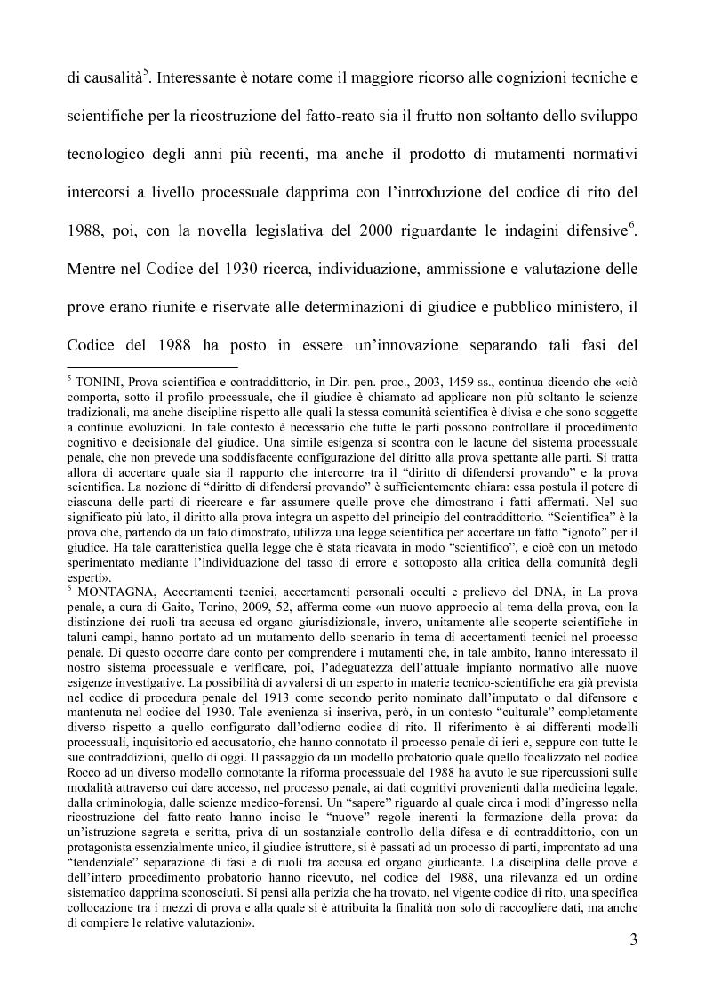 Anteprima della tesi: Gli accertamenti tecnici irripetibili nel processo penale, Pagina 3