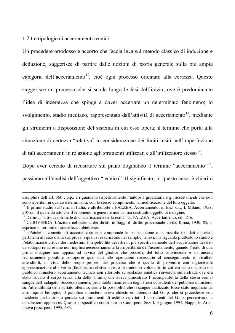 Anteprima della tesi: Gli accertamenti tecnici irripetibili nel processo penale, Pagina 6