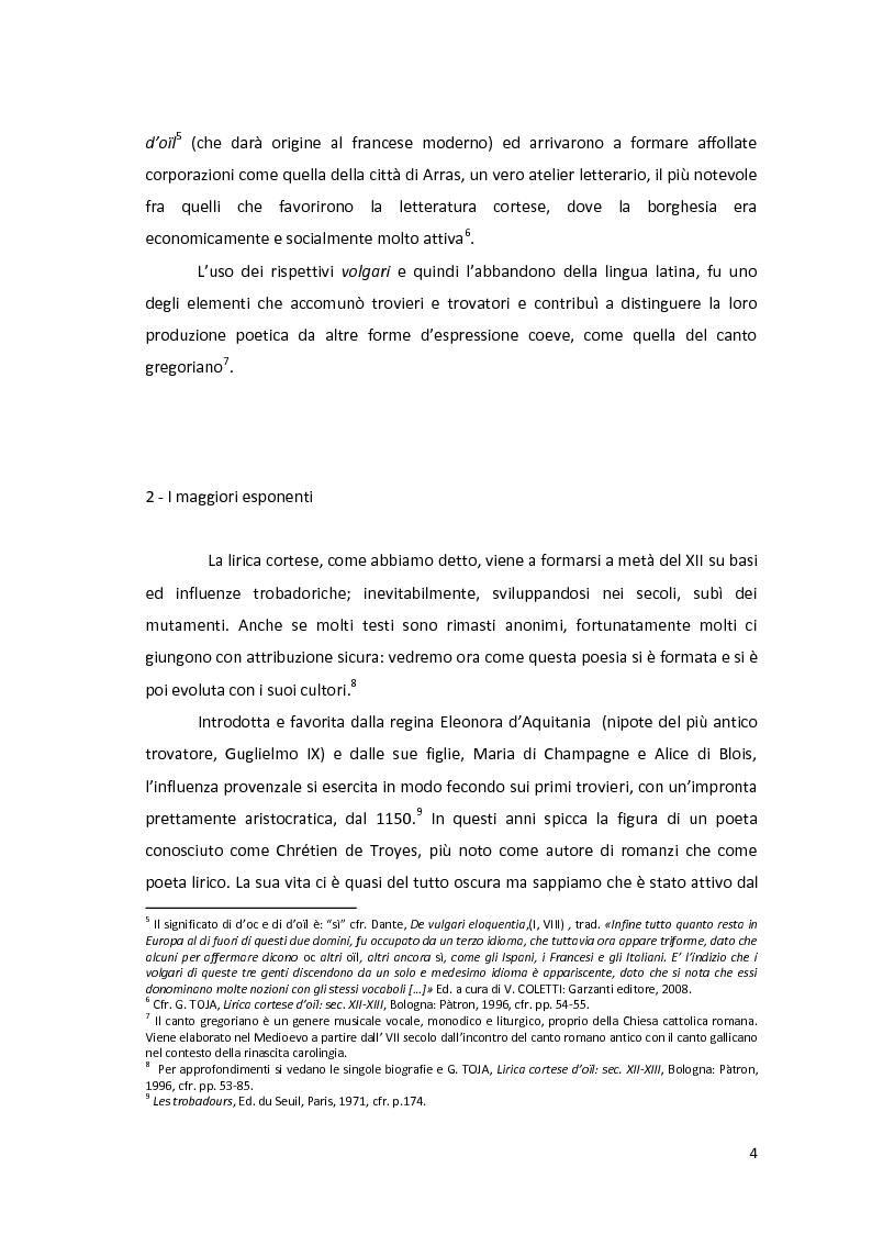 Anteprima della tesi: Le dittologie di joie nella lirica oitanica, Pagina 4