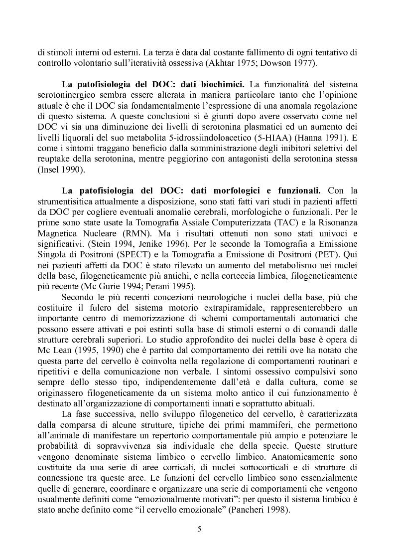 Anteprima della tesi: Le parafilie nello spettro ossessivo-compulsivo: analisi di alcuni casi clinici e proposte di trattamento, Pagina 2