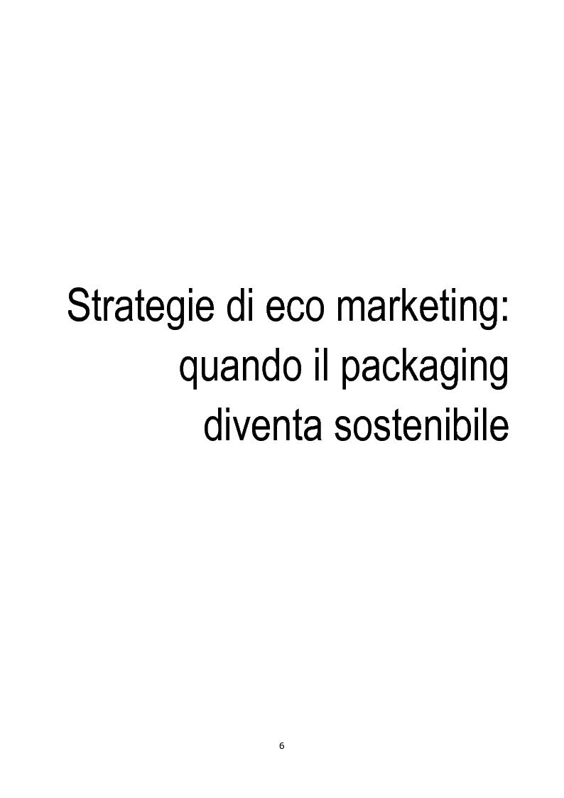 Anteprima della tesi: Strategie di eco-marketing: quando il packaging diventa sostenibile, Pagina 4