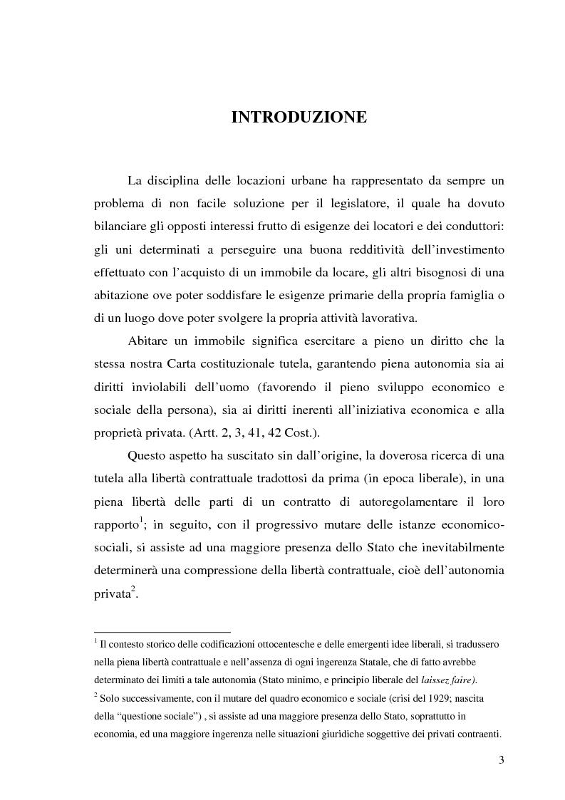 Anteprima della tesi: Contratto di locazione di immobili ad uso abitativo, Pagina 1