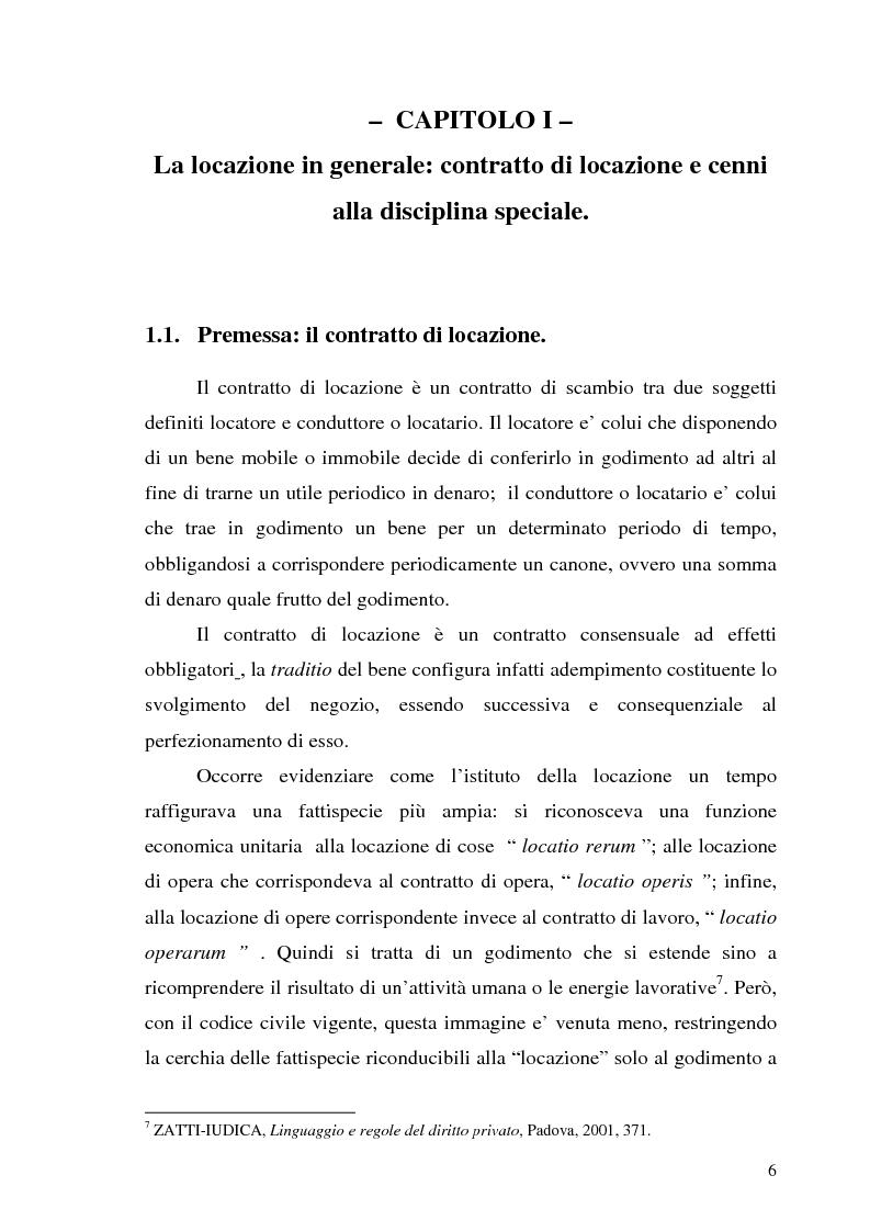 Anteprima Della Tesi: Contratto Di Locazione Di Immobili Ad Uso Abitativo,  Pagina 4