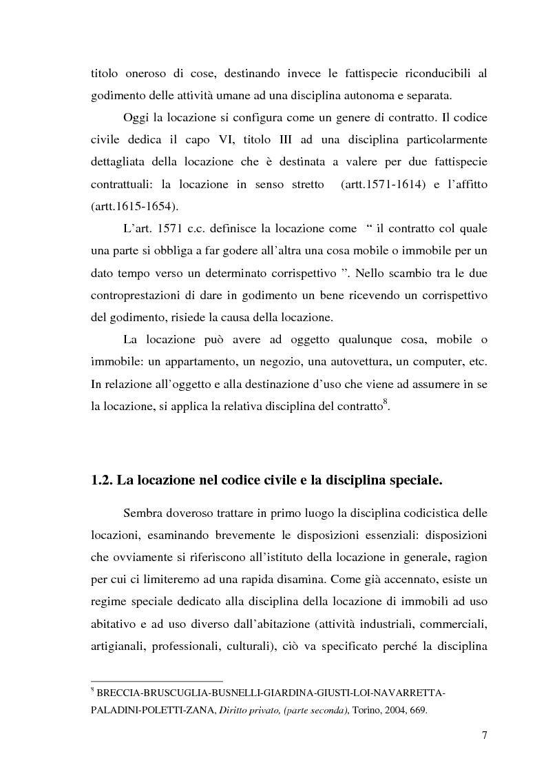 Anteprima Della Tesi: Contratto Di Locazione Di Immobili Ad Uso Abitativo,  Pagina 5