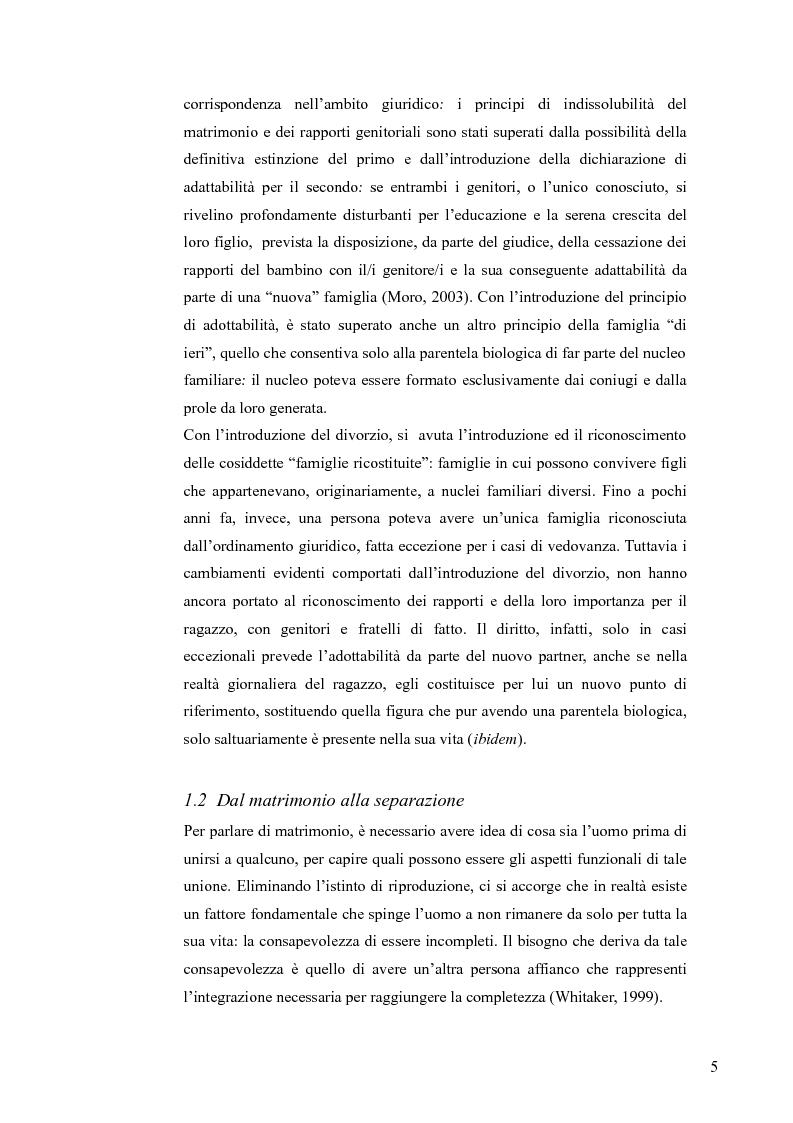 Anteprima della tesi: L'ascolto del minore nei procedimenti di separazione e divorzio, Pagina 5