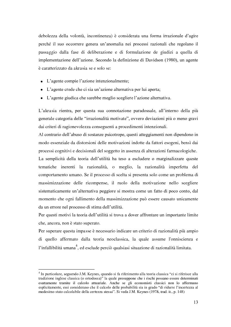 Anteprima della tesi: Processi cognitivi nelle decisioni di consumo intertemporale: evidenze sperimentali e implicazioni per la teoria del marketing, Pagina 10