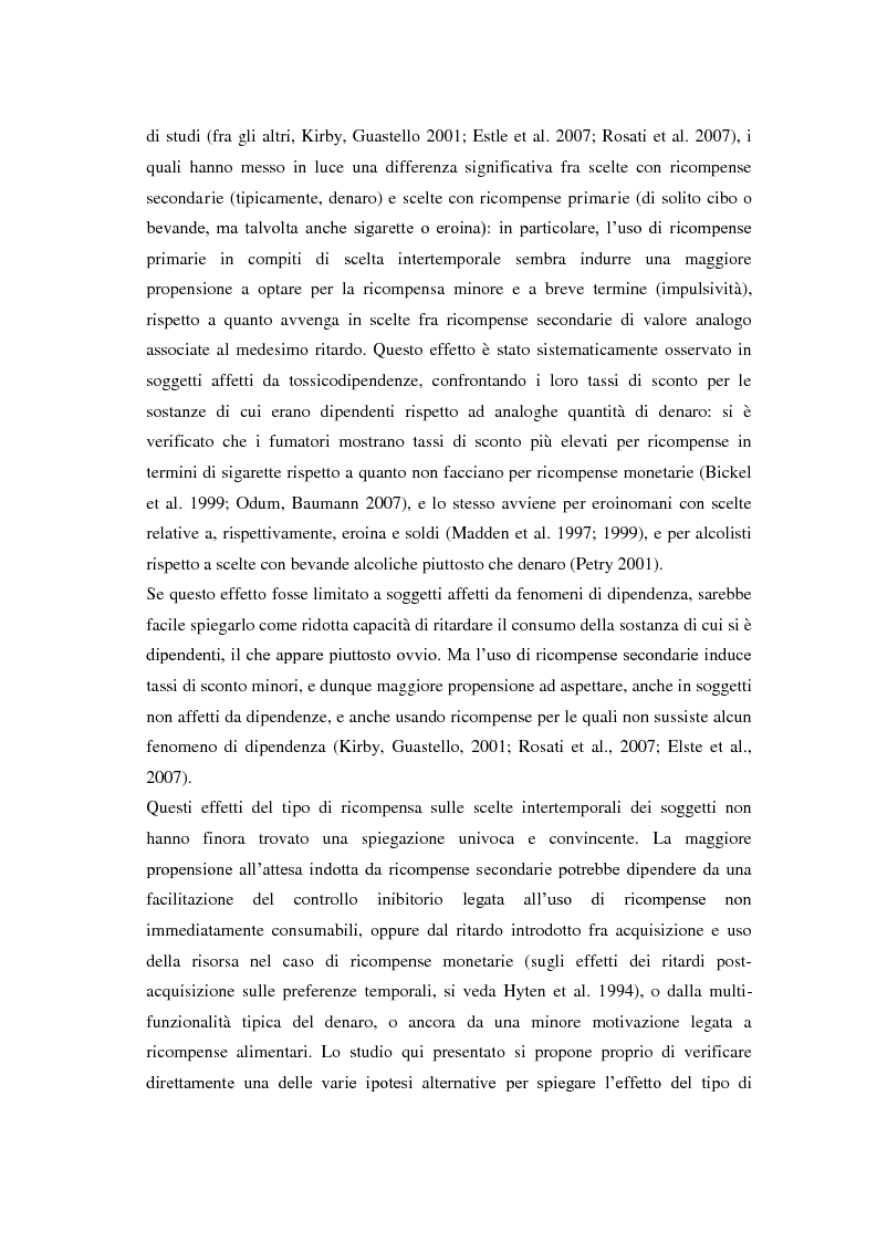 Anteprima della tesi: Processi cognitivi nelle decisioni di consumo intertemporale: evidenze sperimentali e implicazioni per la teoria del marketing, Pagina 3