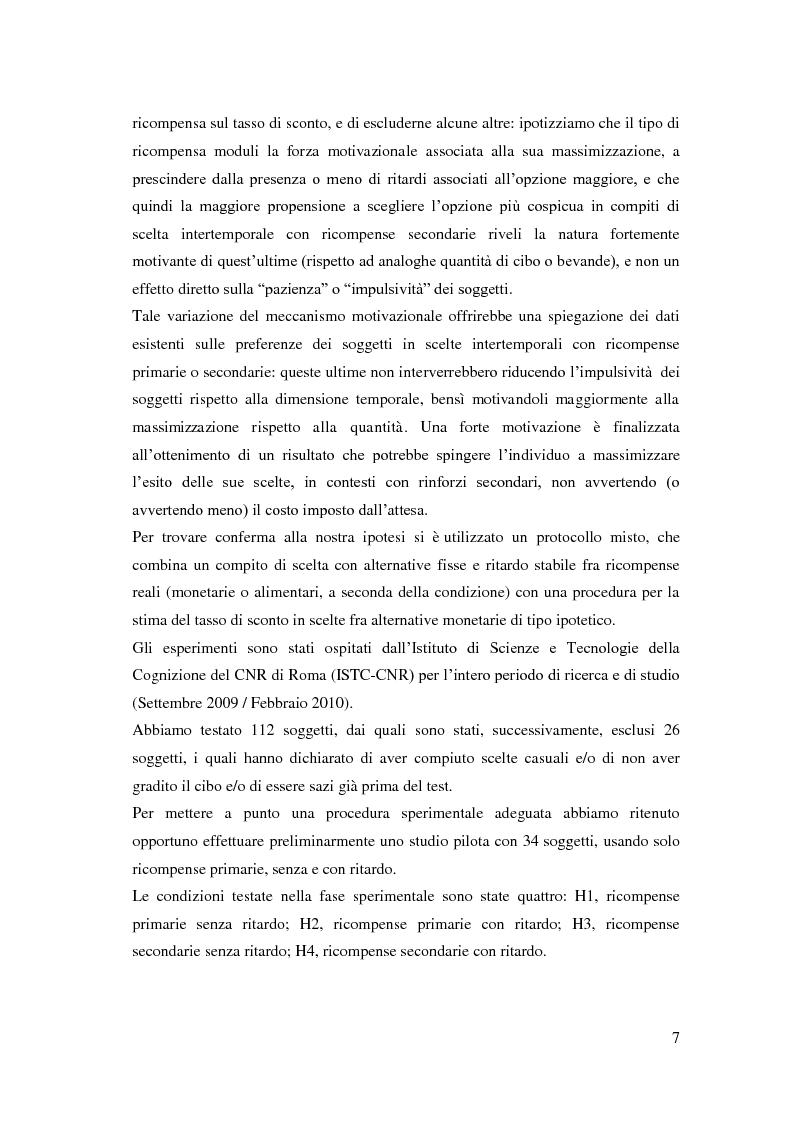 Anteprima della tesi: Processi cognitivi nelle decisioni di consumo intertemporale: evidenze sperimentali e implicazioni per la teoria del marketing, Pagina 4