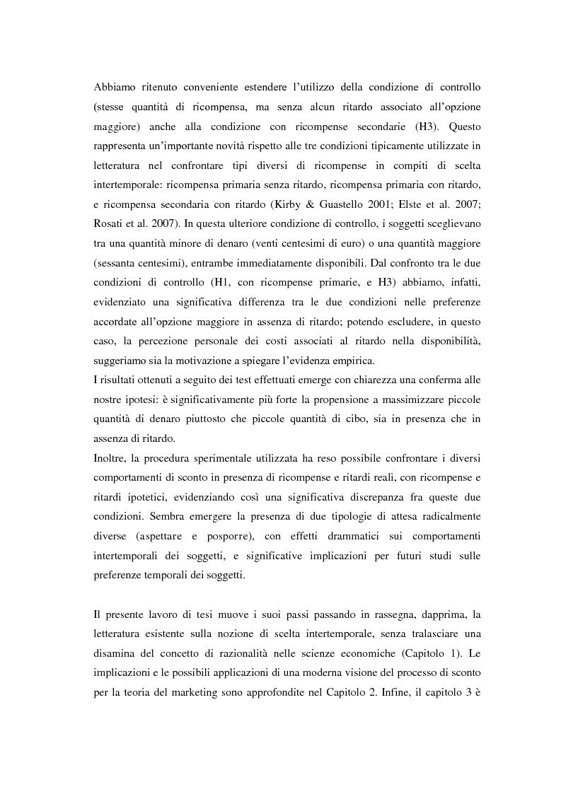 Anteprima della tesi: Processi cognitivi nelle decisioni di consumo intertemporale: evidenze sperimentali e implicazioni per la teoria del marketing, Pagina 5