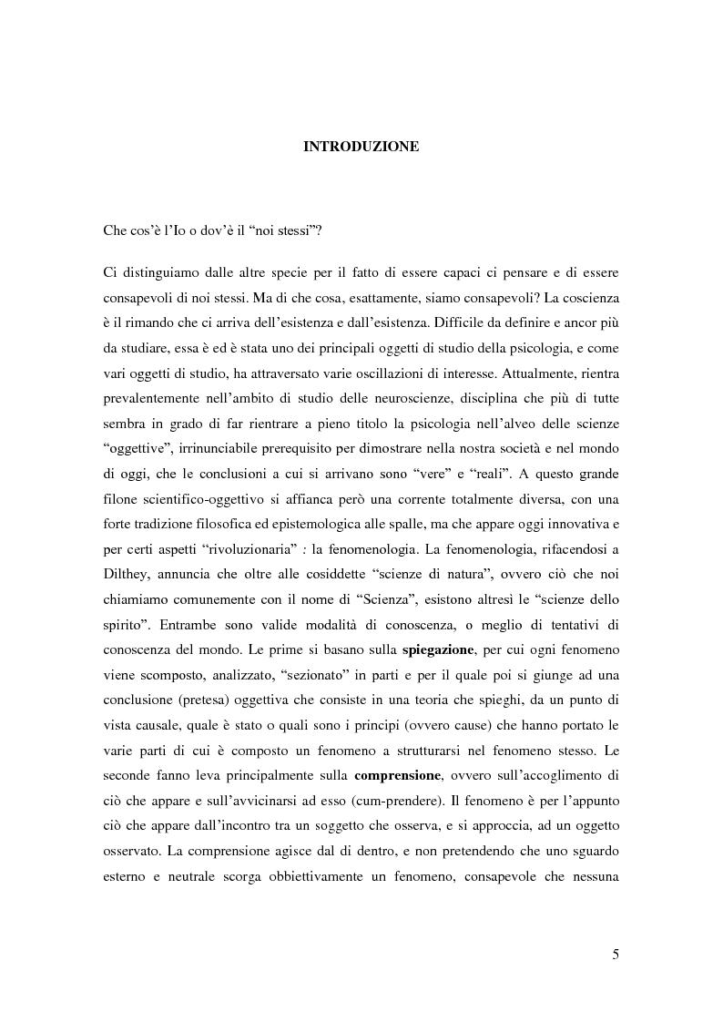 Anteprima della tesi: Il problema della coscienza e il fenomeno delle personalità multiple secondo una prospettiva fenomenologica, Pagina 1