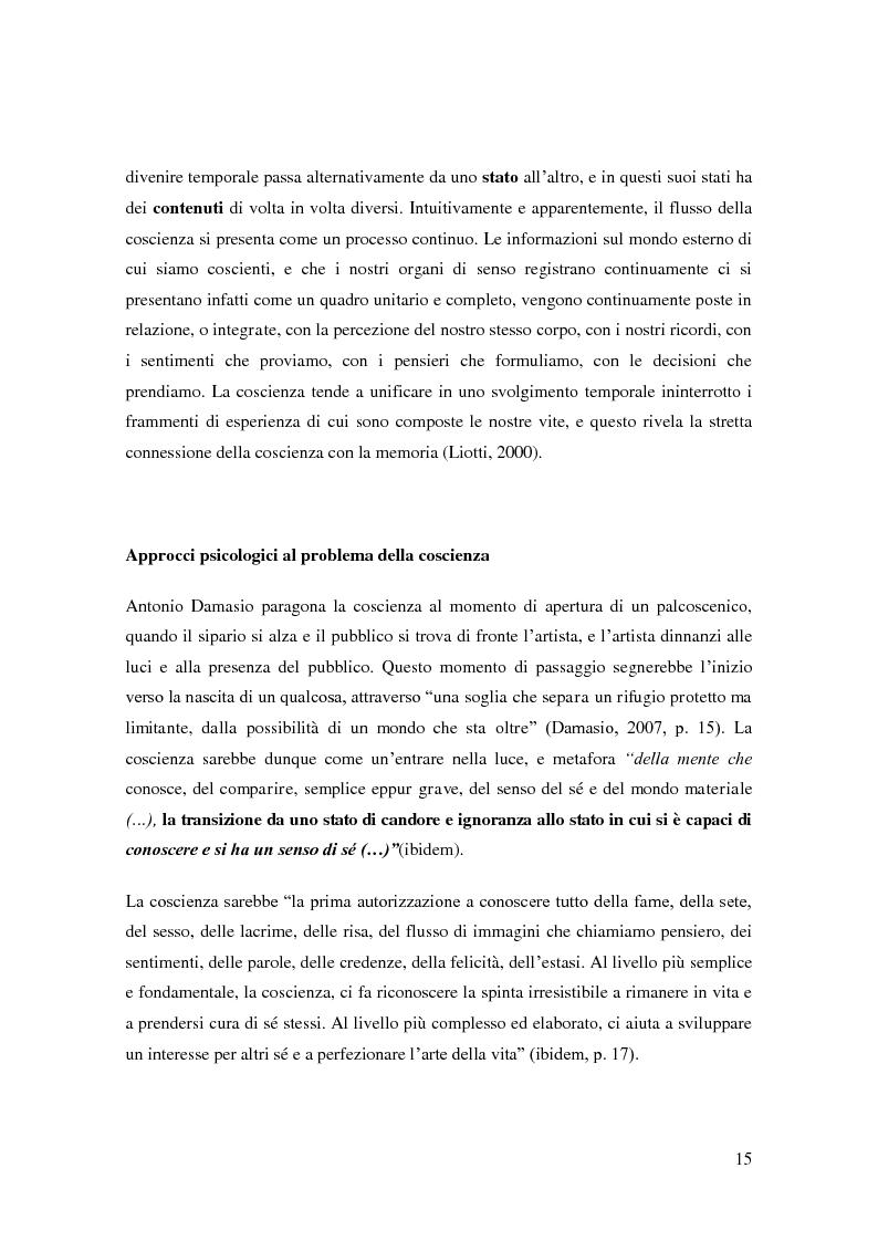 Anteprima della tesi: Il problema della coscienza e il fenomeno delle personalità multiple secondo una prospettiva fenomenologica, Pagina 11
