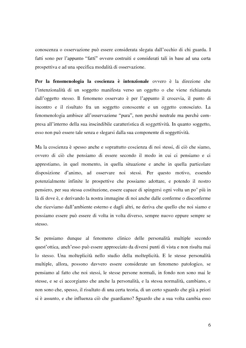 Anteprima della tesi: Il problema della coscienza e il fenomeno delle personalità multiple secondo una prospettiva fenomenologica, Pagina 2