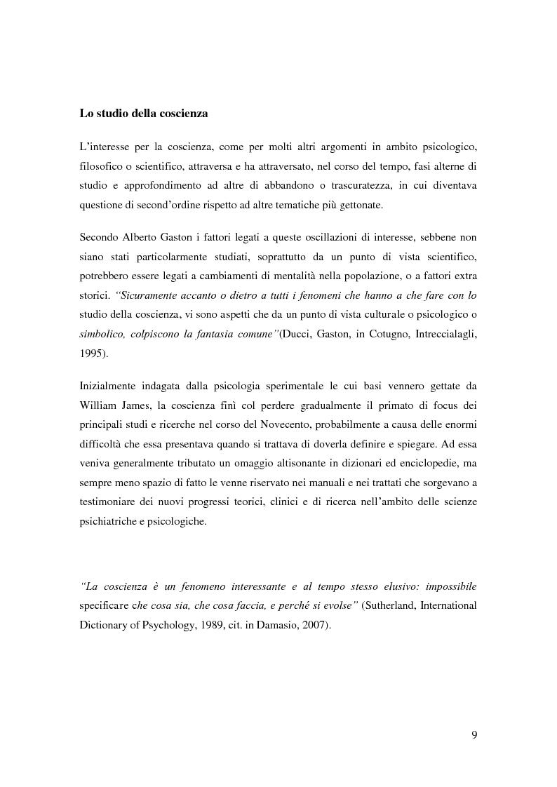 Anteprima della tesi: Il problema della coscienza e il fenomeno delle personalità multiple secondo una prospettiva fenomenologica, Pagina 5