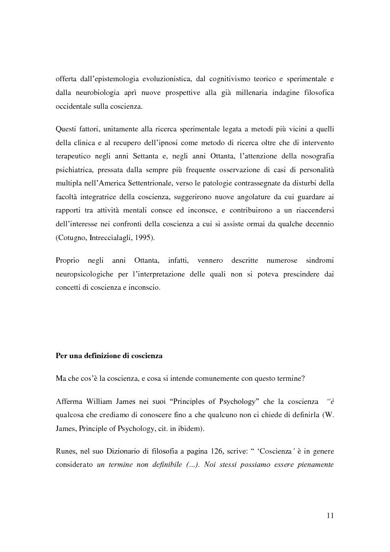 Anteprima della tesi: Il problema della coscienza e il fenomeno delle personalità multiple secondo una prospettiva fenomenologica, Pagina 7