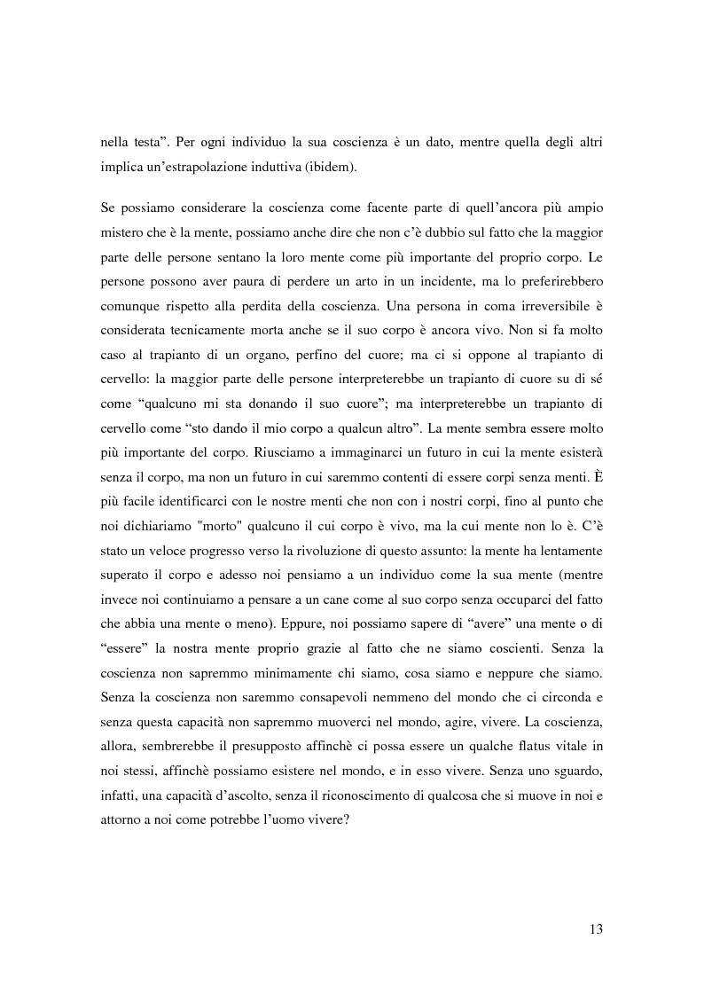 Anteprima della tesi: Il problema della coscienza e il fenomeno delle personalità multiple secondo una prospettiva fenomenologica, Pagina 9