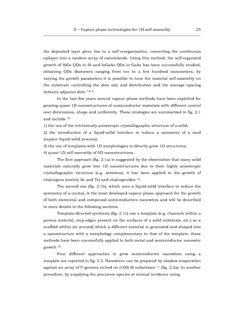 Anteprima della tesi: Au-catalized self-assembly of III-V semiconductor nanowires by metalorganic vapour phase epitaxy, Pagina 3