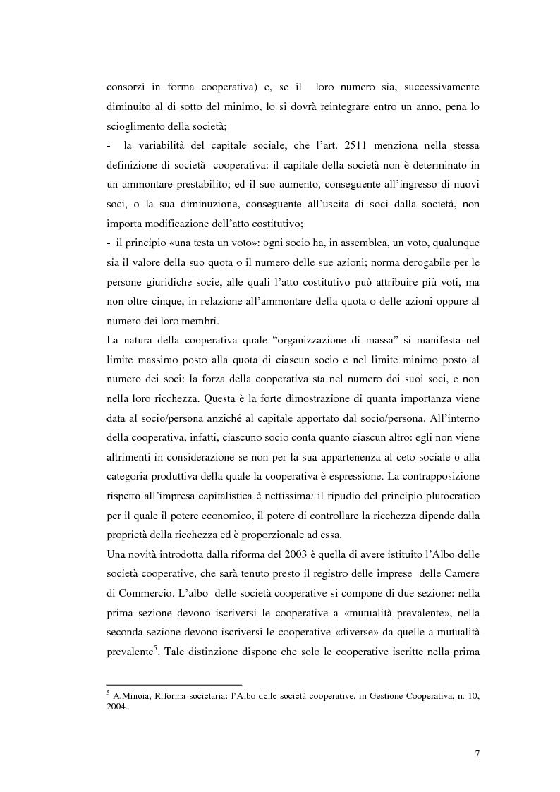 Anteprima della tesi: I consorzi di cooperative sociali: aspetti teorici ed applicativi, Pagina 3