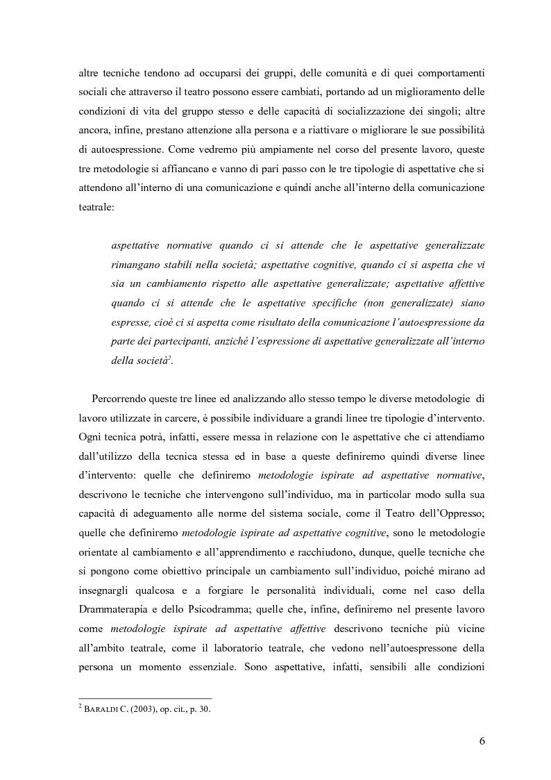 Anteprima della tesi: ''Le voci di dentro''. Percorsi e metodologie del teatro in carcere in Emilia Romagna, Pagina 3