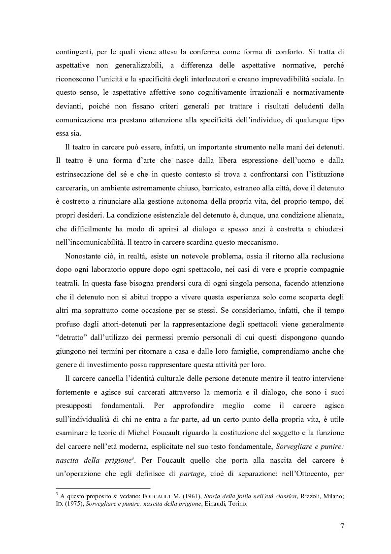 Anteprima della tesi: ''Le voci di dentro''. Percorsi e metodologie del teatro in carcere in Emilia Romagna, Pagina 4