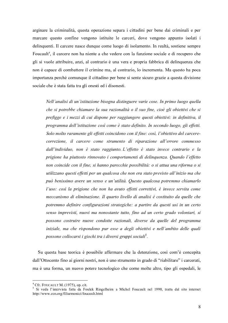 Anteprima della tesi: ''Le voci di dentro''. Percorsi e metodologie del teatro in carcere in Emilia Romagna, Pagina 5