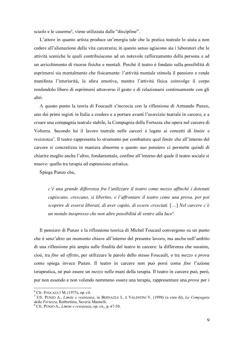 Anteprima della tesi: ''Le voci di dentro''. Percorsi e metodologie del teatro in carcere in Emilia Romagna, Pagina 6
