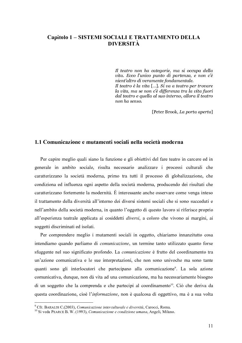 Anteprima della tesi: ''Le voci di dentro''. Percorsi e metodologie del teatro in carcere in Emilia Romagna, Pagina 8