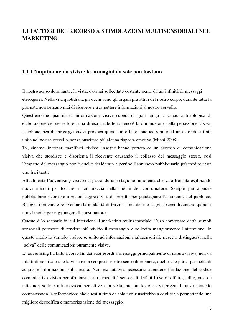 Anteprima della tesi: Marketing multisensoriale: la dimensione tattile, Pagina 3