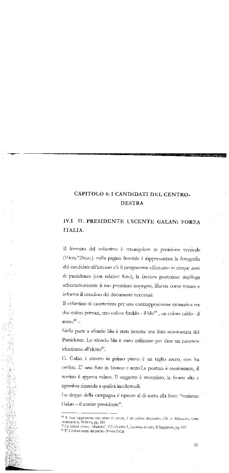 Anteprima della tesi: Strategie di persuasione elettorale durante le regionali 2005 in Veneto, Pagina 1