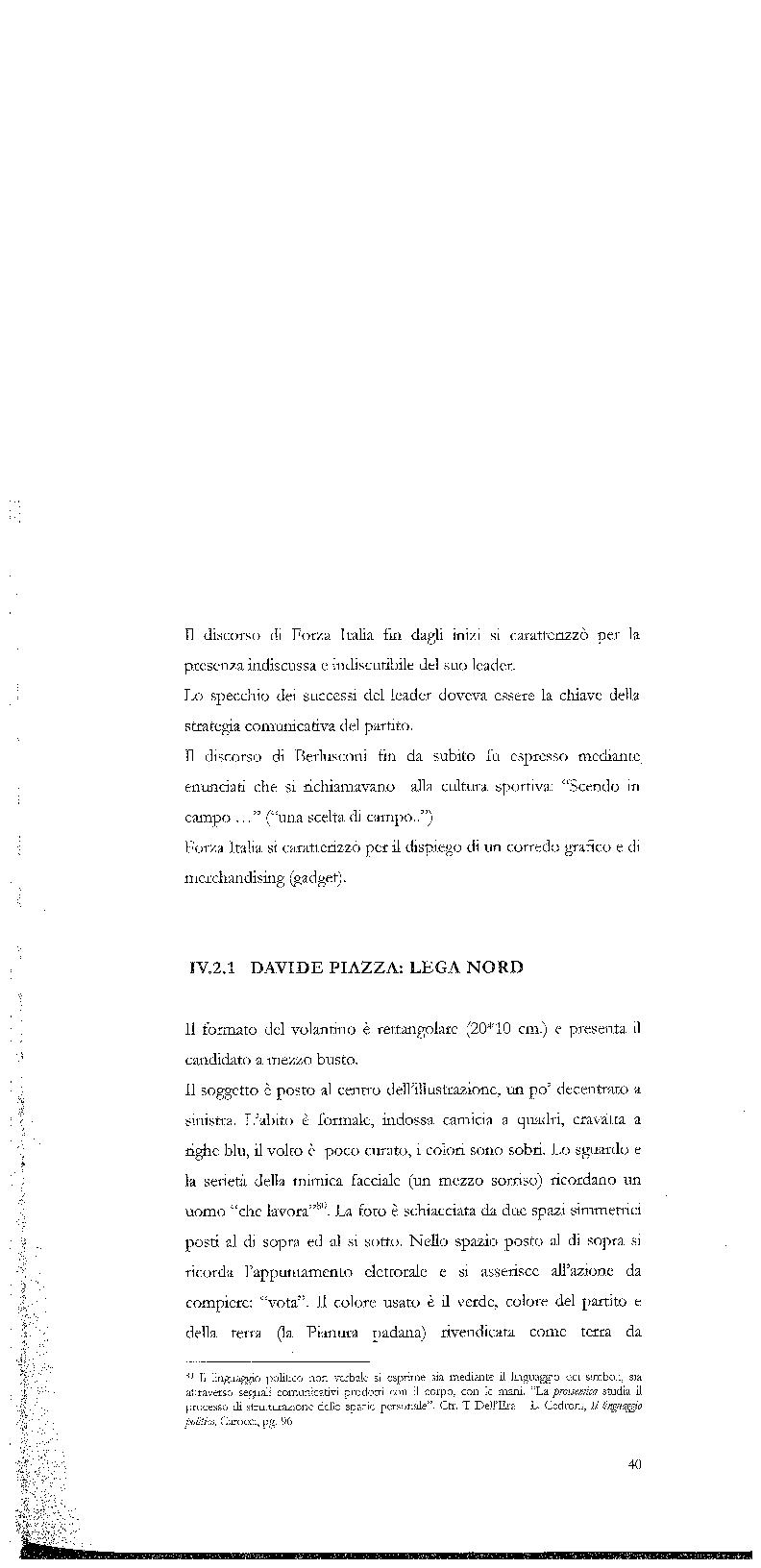 Anteprima della tesi: Strategie di persuasione elettorale durante le regionali 2005 in Veneto, Pagina 10